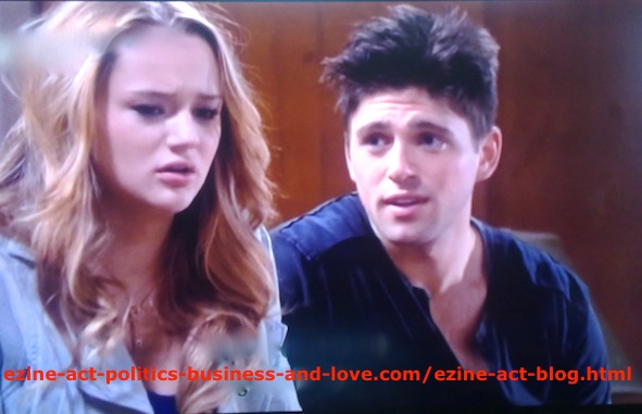 Adriana Masters (Haley King) with Phil Sanders (Robert Adamson) in Hollywood Heights.