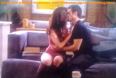 Hollywood Heights: Eddie Duran (Cody Longo) and Loren Tate (Brittany Underwood) Kissing After Revelation, When They Understood the Plans of Chloe Carter (Cynthia Kowalski)