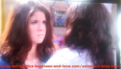 Melissa Sanders (Ashley Holliday) While Advising Loren Tate (Brittany Underwood) to Ask Eddie Duran (Cody Longo),