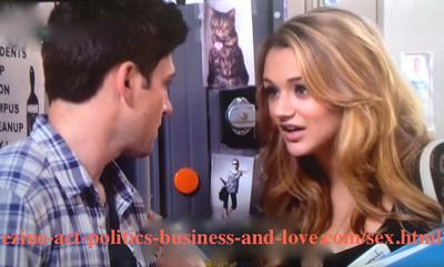 Phil Sanders (Robert Adamson) and Adriana Masters (Haley King) getting into the mode of love in Hollywood Heights, which drive them to be disobedient to their parents.
