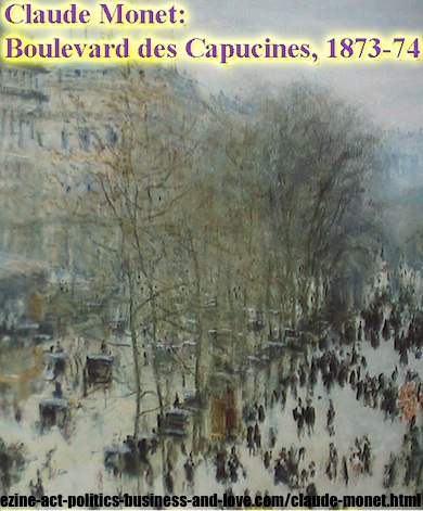 Boulevard des Capucines, French painter, Claude Monet, 1873-74.