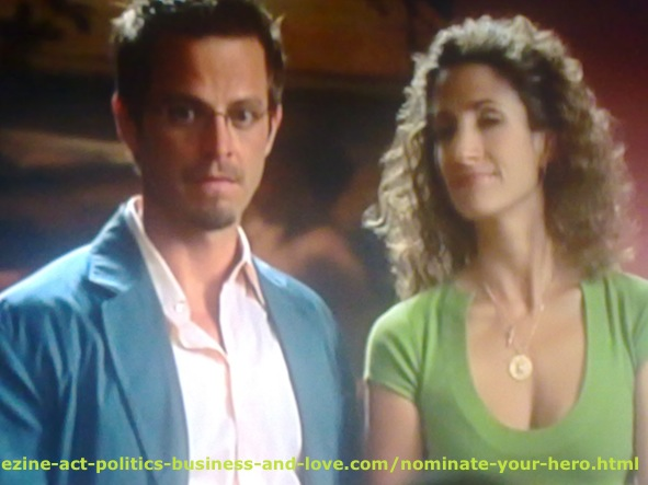 Nominate Your HERO: Carmine Giovinazzo and Melina Eleni Kanakaredes, CSI NY.