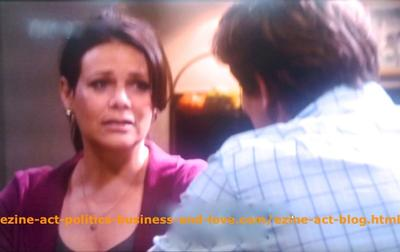 Gus Sanders (Brian Letscher) and His Wife Lisa Sanders (Meredith Salenger) Discussing Family Love Problems in Hollywood Heights.