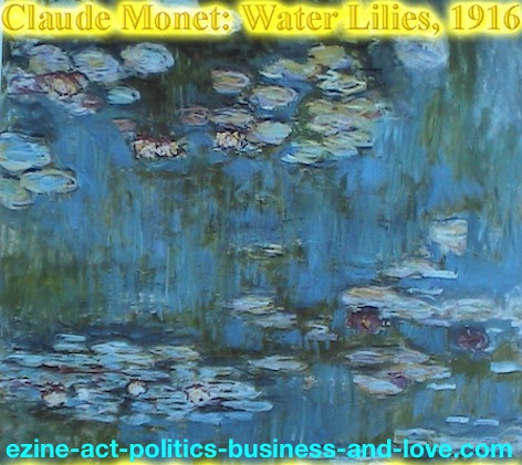 laude Monet, Water Lilies, Les Nympheas, 1916, Study of the Morning Water.