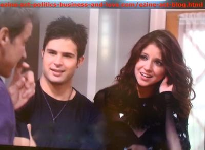 Loren Tate (Brittany Underwood), Her Love Eddie Duran (Cody Longo) and His Dad Max Duran (Carlos Ponce), When the Two Stars Found that He Spent the Night at Loren's Home with Her Mom Nora Tate (Jama Williamson).