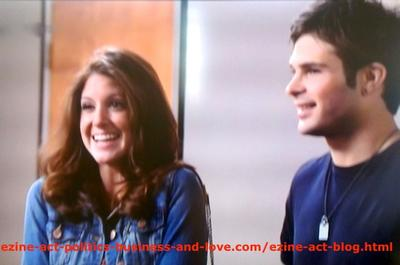 Loren Tate (Brittany Underwood) and Her Love Eddie Duran (Cody Longo) Excited When She Won the Song Competition in Hollywood Heights.