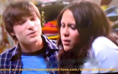 The Most Decent and Intelligent Kids in Love in Hollywood Heights, Melissa Sanders (Ashley Holliday) and her Boyfriend Adam (Nick Krause)