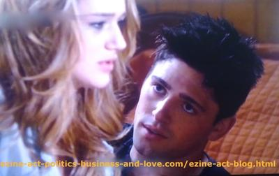 Phil Sanders (Robert Adamson) and his Love Adriana Masters (Haley King) Listening While He Suggested to have Abortion at his Flat in Hollywood Heights.