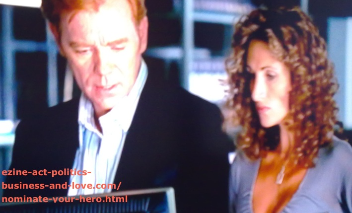 Nominate Your Hero: David Caruso (CSI Miami) with Melina Kanakaredes (CSI New York)