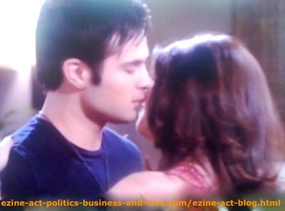 Eddie Duran (Cody Longo) and Loren Tate (Brittany Underwood) in Love on Hollywood Heights.