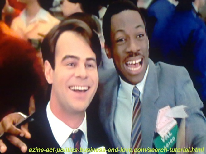 Search Tutorial, Eddie Murphy and Dan Aykroyd in Trading Places