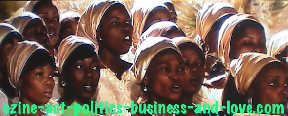 Ezine Acts African Art: African Choral Singing, After Vocal Musical Lessons.