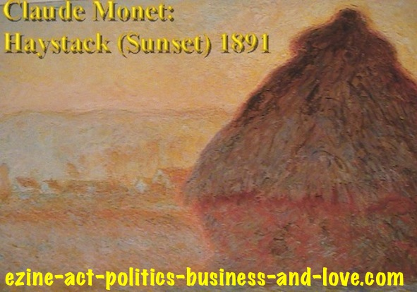 Ezine Acts Art Stores: Claude Monet, Haystack Sunset 1891.