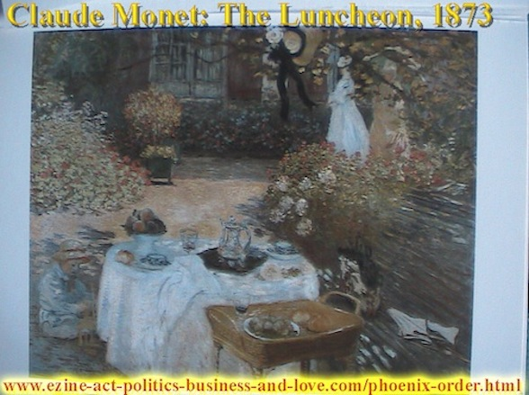 Ezine Acts Art Stores: Claude Monet, The Luncheon, 1873.