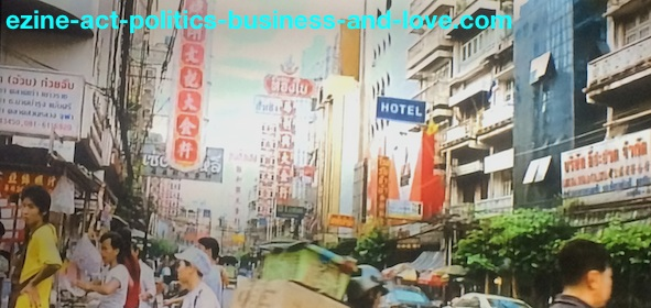Ezine Acts Business Opportunities: Small Thai businesses among big businesses in Bangkok.