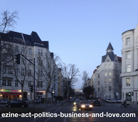 Ezine Acts Business: Punto e Virgola Restaurant, and Other German Businesses Around, Berlin, Germany.