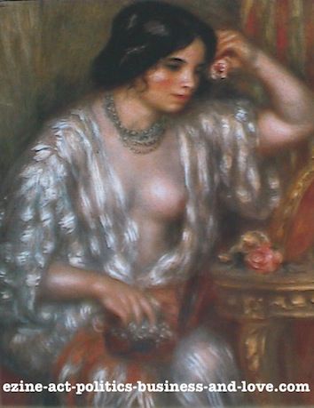 Ezine Acts Fine Arts: Gabrielle with Jewels, 1910, Pierre Auguste Renoir.