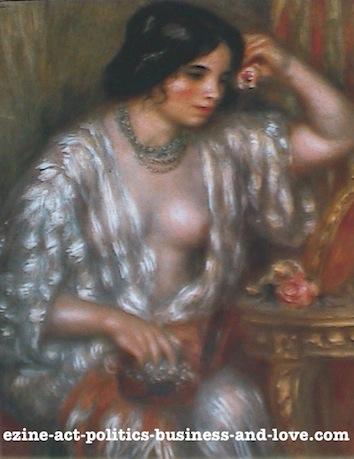 Ezine Acts Fine Arts: Gabrielle with Jewels, 1910, Pierre Auguste Renoir.