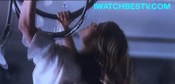 Ezine Acts Galleries: The Obsessed Hanging on the Ceiling Light Bars After a Fight with Beyonce, in the Movie.