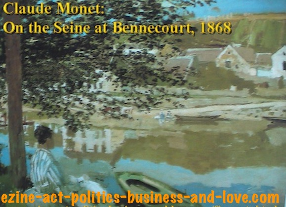 Ezine Acts Sell Paintings Online: Claude Monet, On the Seine at Bennecourt-1868.