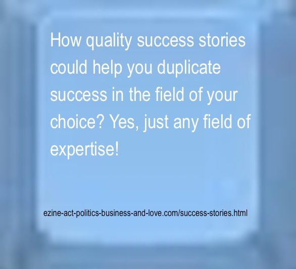 Ezine Acts Success Stories are Inspirational to Succeed in Any Field of Expertise!