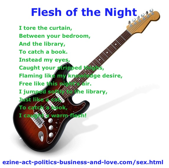 Sex Shades in Flesh of the Night, English Poetry by Khalid Osman