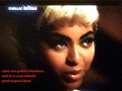 Submit Good Request: Beyonce Knowles Acting Etta James in Cadillac Records.