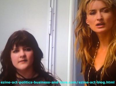 Becca (Madeleine Martin), Talented Lovely Young Girl with Her Lovely Mom, Kern (Natascha McElhone) in the TV Series, Californication.