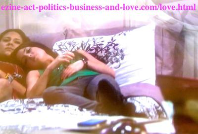 Melissa Sanders (Ashley Holliday) and her best friend Loren Tate (Brittany Underwood)  talking about her love, Eddie Duran (Cody Longo) during the tragedy in Hollywood Heights.