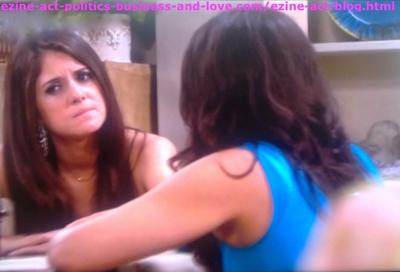 Loren Tate (Brittany Underwood) While Asking Melissa Sanders (Ashley Holliday) about Her Real Mother Beth Bridges.
