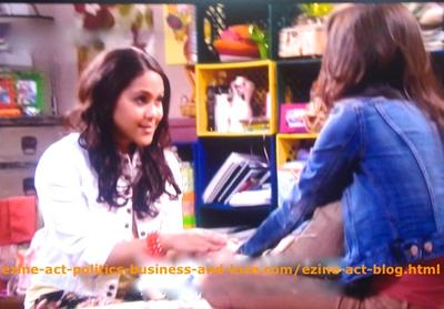 Hollywood Heights, Melissa Sanders (Ashley Holliday) Practicing Love Meditation with Loren Tate (Brittany Underwood) to Purify the Love She Feels for Eddie Duran (Cody Longo).