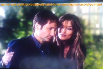 Californication, Unforgettable Love, But Also Miserable Between Hank Moody (David Duchovny) and Kern (Natascha McElhone)