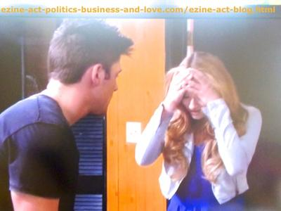 Adriana Masters (Haley King) Getting Upset Because She Became Pregnant and Haven't Used Any Protection During Love and Sex with Phil Sanders (Robert Adamson) in Hollywood Heights.