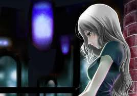 Animation of a Girl in Love Thinking of Her Lover, When the Night is Silent, and Her Hurt Beats with Love!