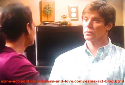 Gus Sanders (Brian Letscher) and His Wife Lisa Sanders (Meredith Salenger) Discussing Some Family Love Problems in Hollywood Heights.