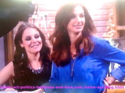 Kelly (Yara Martinez) and Nora Tate (Jama Williamson) in Hollywood Heights.