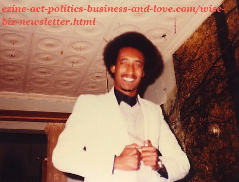 Khalid Osman, years ago while he was journalist and before he started publishing the Wise Biz Newsletter at the Ezine Act