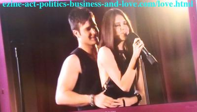 Loren Tate and Eddie Duran during the love song duet in Hollywood Heights Marthon.