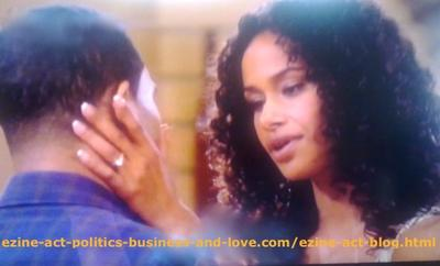 Touching Love Moment in Hollywood Heights - Traci Madsen (Shannon Kane) with Her Husband Jake Madsen (Brandon Bell).