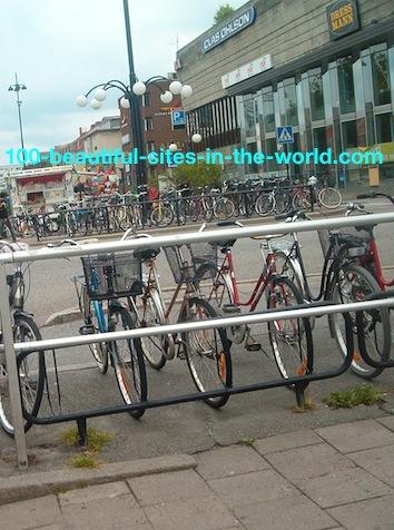 Marieberg Orebro: Central Bike Stand.