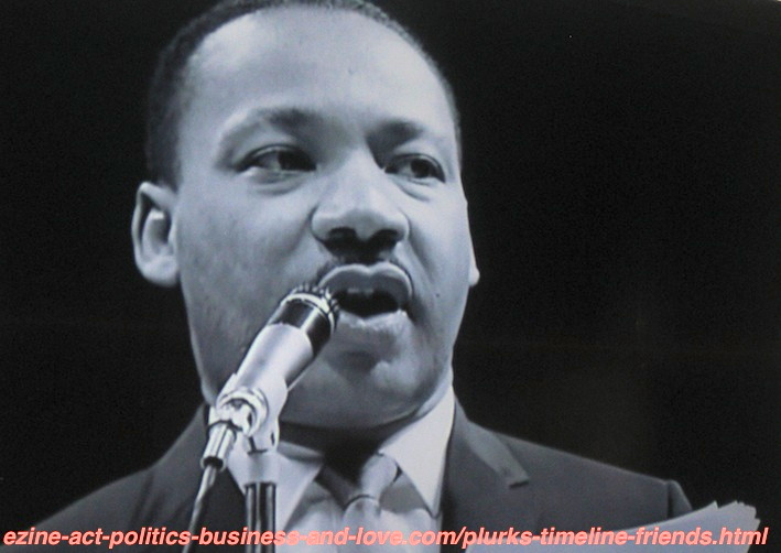 Martin Luther King in One of His Prophetic Prodigious Speeches