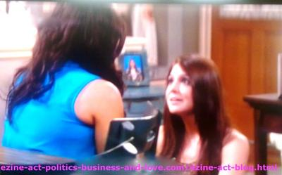 Loren Tate (Brittany Underwood) Trying to Calm Down Melissa Sanders (Ashley Holliday) and telling her that She will Never Leave her.