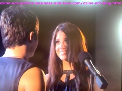 Eddie Duran (Cody Longo) Introduced Loren Tate (Brittany Underwood) to his Audience When he Performed a New Style of Music in Hollywood Heights.