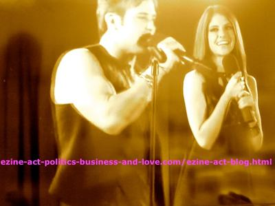 Eddie Duran (Cody Longo) Singing with Loren Tate (Brittany Underwood) in Hollywood Heights.