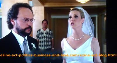 Billy Crystal and Lisa Kudrow (One of the Leading Stars in Friends) During Their Marriage Ceremony in the Movie Series, Family Therapy and Mafia Blues.