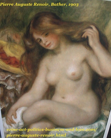 French painter, Pierre Auguste Renoir, Bather, 1903