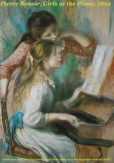 Pierre Auguste Renoir, Girls at the Piano, 1892