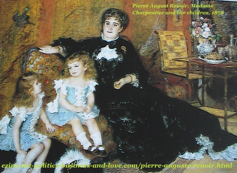 Pierre Auguste Renoir, Madame Charpentier and her Children, 1878