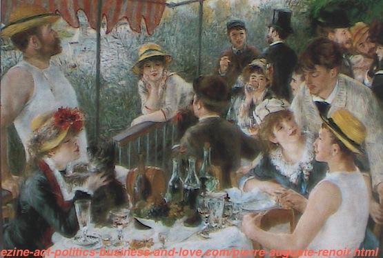 French Painter, Pierre Auguste Renoir, The Luncheon of the Boating Party, 1880-1881
