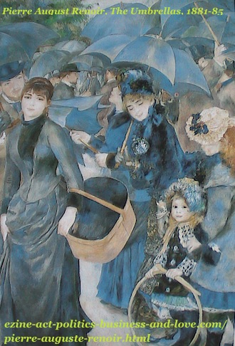 French Painter, Pierre Auguste Renoir, The Umbrellas, 1881-1885